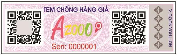 Tem chống giả kết hợp với tem bảo hành điện tử Azooo do Smartcheck phát hành